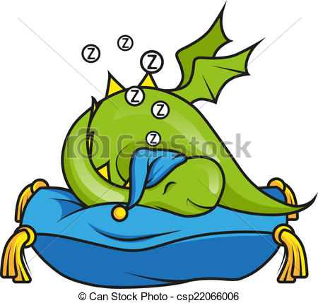 Little Dragon clipart Sleeping  pillow on little