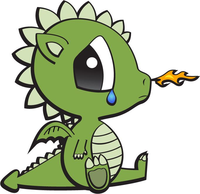 Randome clipart baby dragon #4