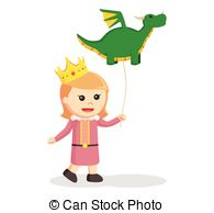 Little Dragon clipart child Illustration dragon EPS nature balloon;