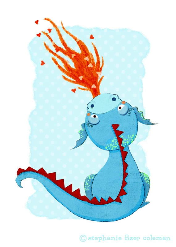 Little Dragon clipart child Or Blue Children's  Dragon