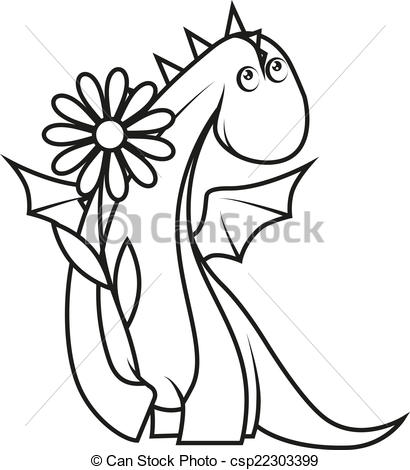 Little Dragon clipart cute dragon Coloring  dragon Coloring holding