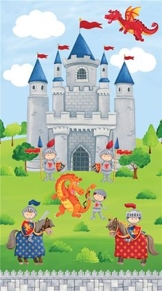 Little Dragon clipart dragon castle Quest colorful by Little fabricfrantic