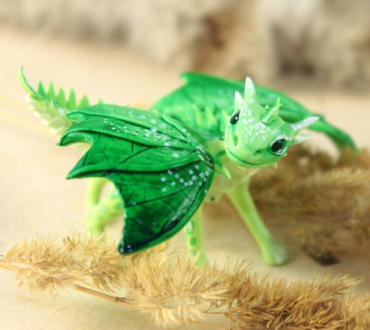 Little Dragon clipart green dragon Figurine fantasy Little Dragon dragon