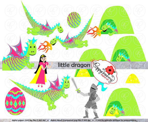Little Dragon clipart princess dragon Art Cave Dragon dpi) from