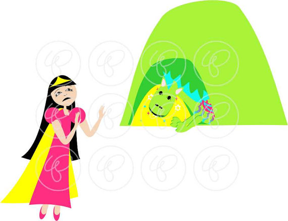 Little Dragon clipart princess dragon Clip Little dpi) Elements: