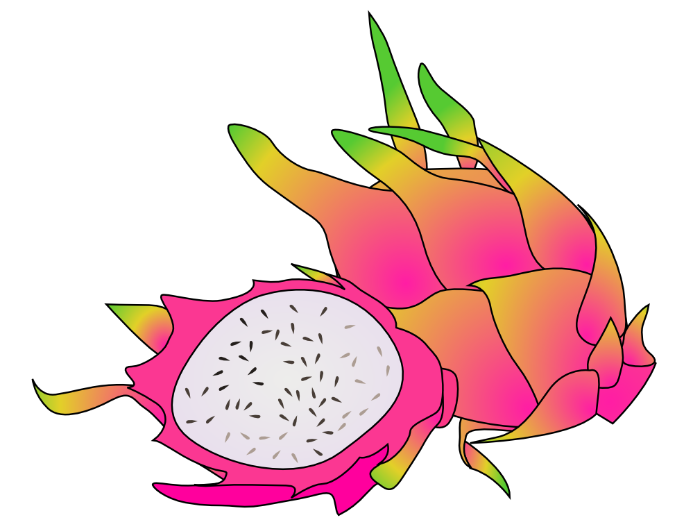 Pitaya clipart Free Clip Art Cute Images