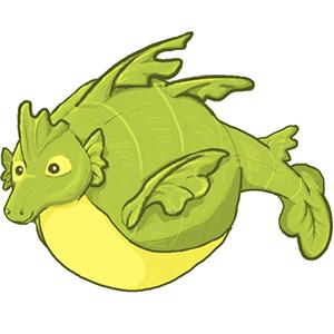 Little Dragon clipart sea dragon Fuzzy Dragon: Designer Sea Adorable