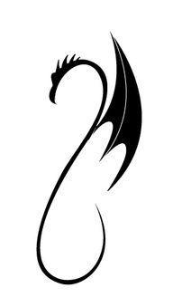 Little Dragon clipart small Simple tattoo dragon tattoo Black