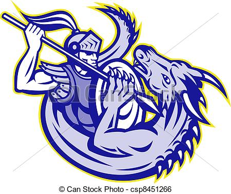 Little Dragon clipart st george George Knight Dragon Fighting St
