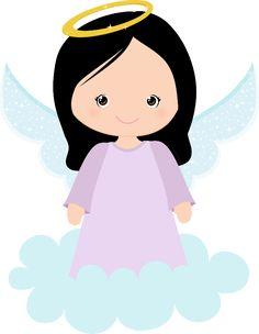 Angel clipart dark hair Angel clipart clipart Cute angel