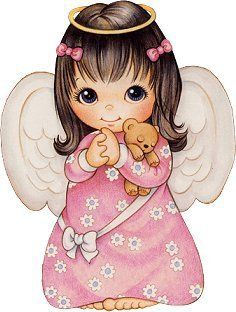 Brunette clipart angel Image! little clipart Free cute
