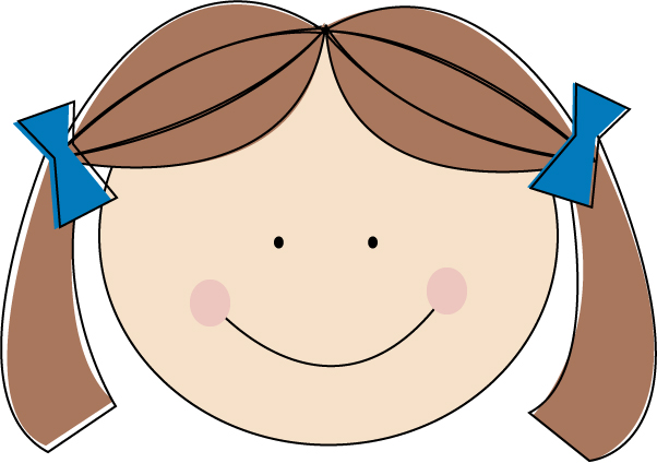 Brunette clipart pigtail Girl little } Share haired