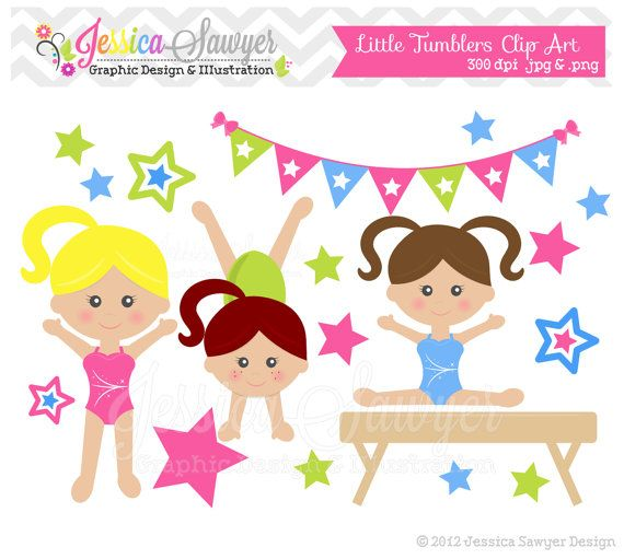 Gymnastics clipart birthday party 11 art graphic clip DOWNLOAD