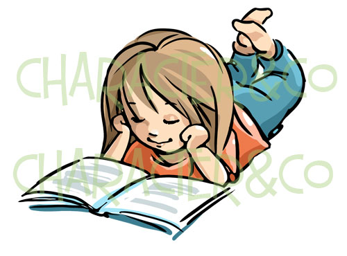 Relax clipart person reading a book #14
