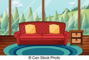 Living Room clipart Clip Stock room Living Living