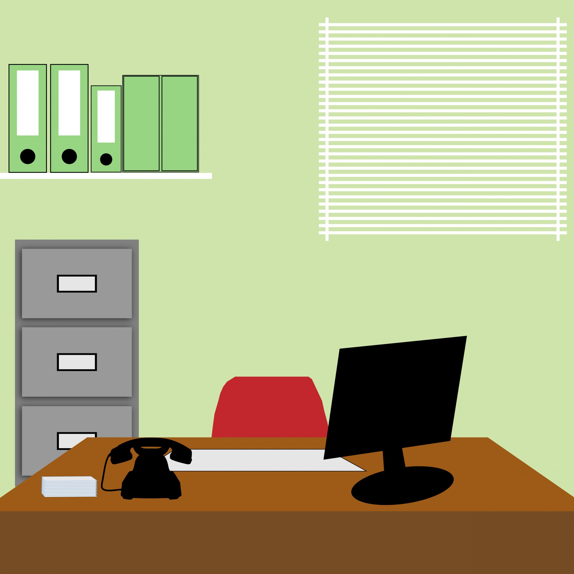 Office clipart office background Public Free Domain Office Illustration