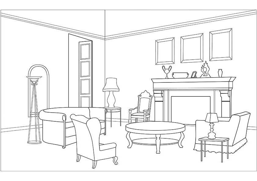 The Kitchen clipart living room Black Black Idea New Clipart