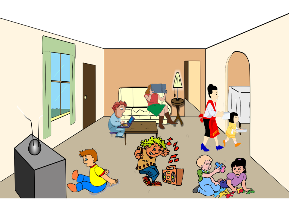 Living Room clipart boy room Living Room Clean Clipart Living