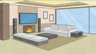 Living Room clipart cartoon Living Empty Living Room ClipartFest