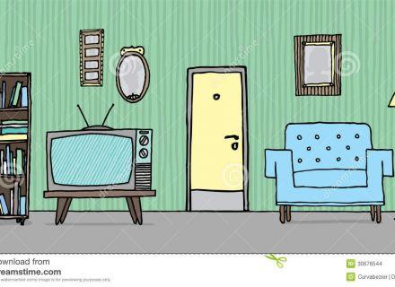 Living Room clipart cartoon Living Cartoon Room Vector Art