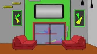 Living Room clipart cartoon Trend Anime Cartoon modern Room