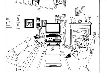 Living Room clipart coloring page Talstern Page & Living Pictures