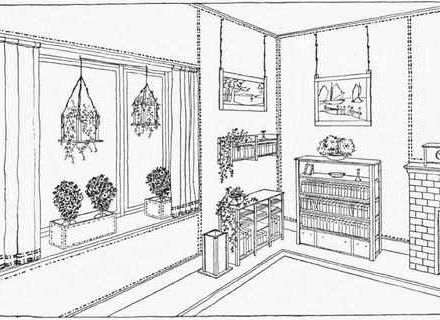 Living Room clipart coloring page Pictures Colouring & Room room