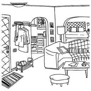 Living Room clipart coloring page Carameloffers Living Pages Sheet Coloring