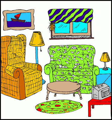 Living Room clipart comic Art Free Clipart room%20clipart Images