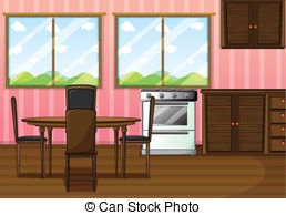 Living Room clipart dinning room   of Art clean