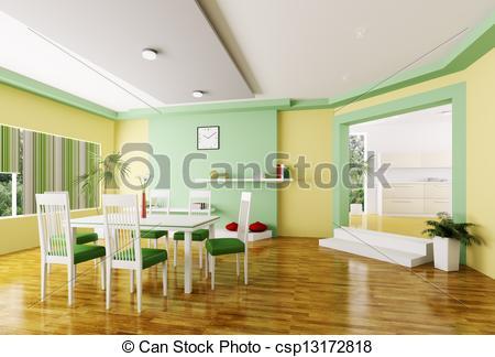 3D clipart living room Interior 3d modern 3d room