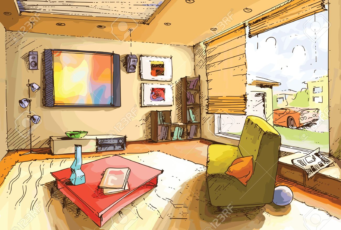 Living Room clipart drawing room Drawing Living Clipart room Clipart