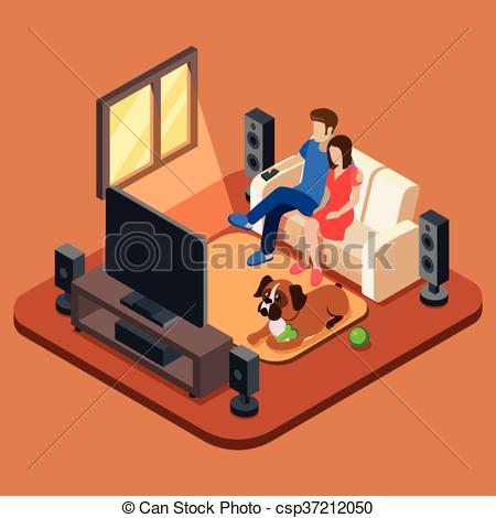 Living Room clipart drawing room People  concept Family room