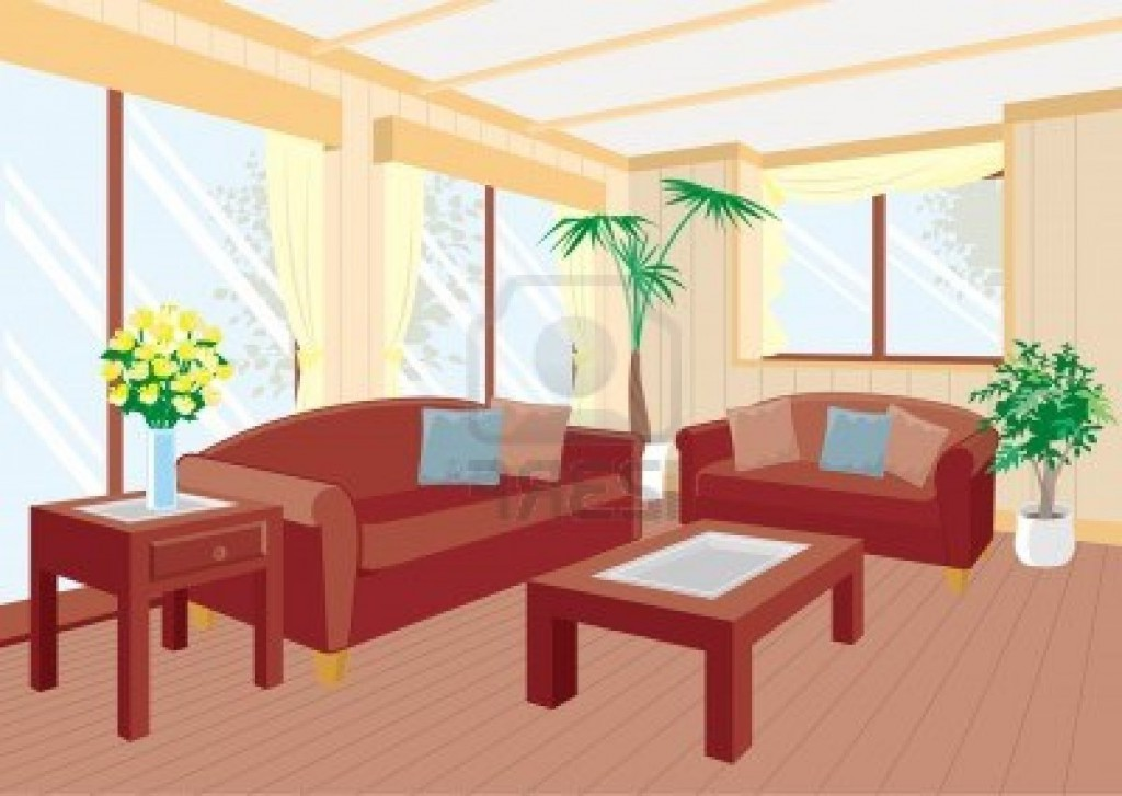 Living Room clipart drawing room Empty room clip (82+) art