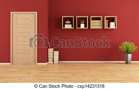Living Room clipart drawing room Living room Empty living room