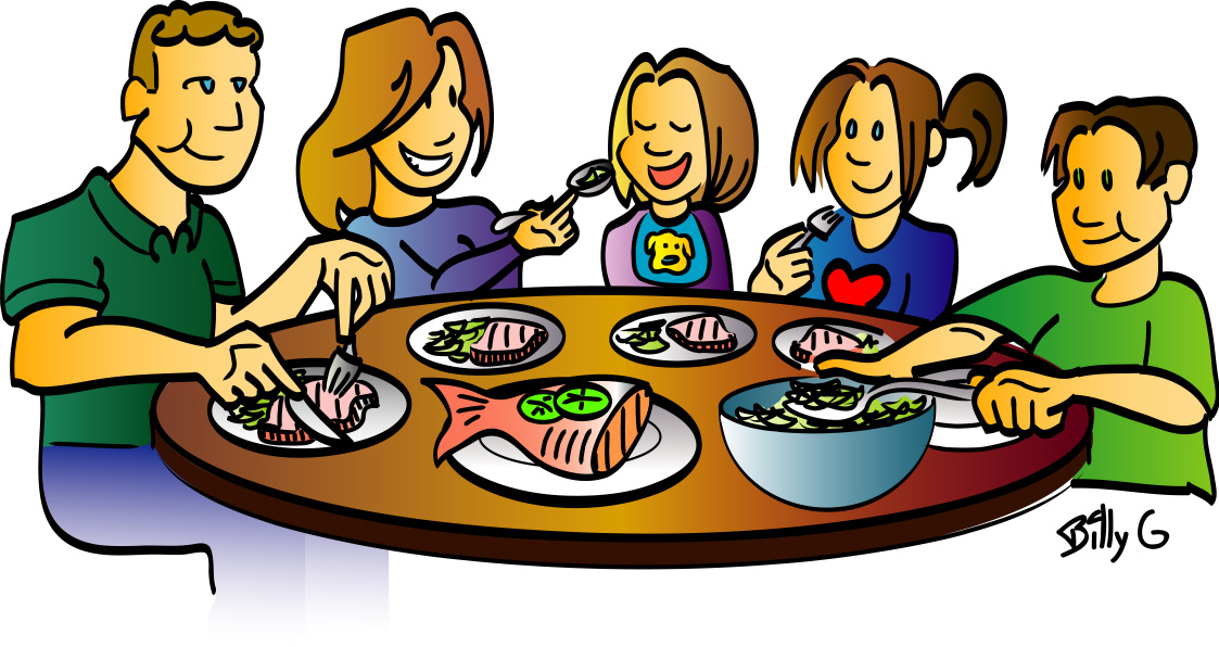 Calendar clipart team dinner Clipart Clip Family meal