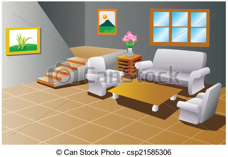 Living Room clipart house interior Room living a house of