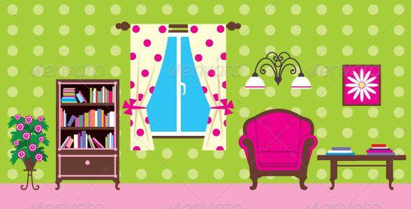 Living Room clipart illustration Room living Download clipart Clipart
