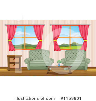 Living Room clipart illustration Living Room Illustration colematt by