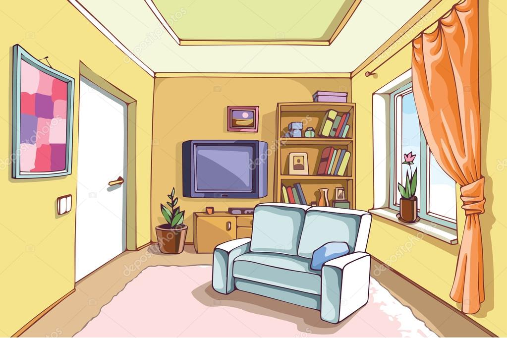 Living Room clipart illustration Clipart magiel room Living illustrations