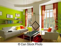 Living Room clipart illustration Art  natural room spacious
