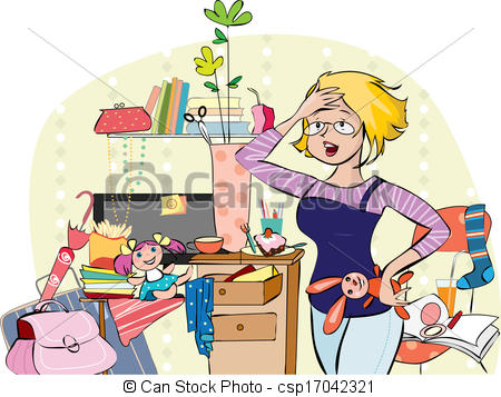 Living Room clipart illustration Together things room illustration a
