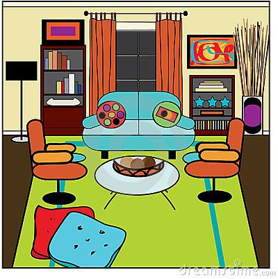 Living Room clipart illustration Search living on Clipart about