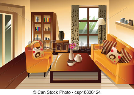 Living Room clipart illustration Room space  living Modern