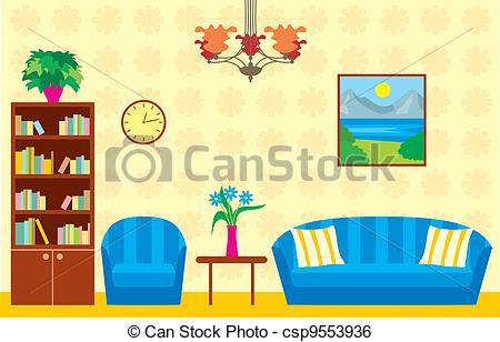 Living Room clipart illustration Illustration  room EPS Vector