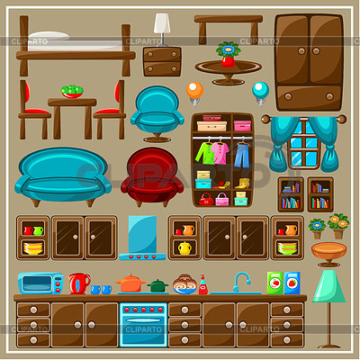 Living Room clipart living thing Carameloffers Clip Of Living Furniture