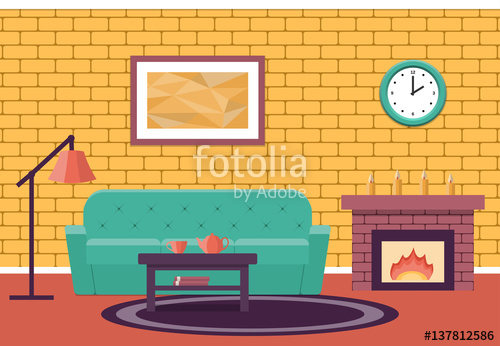 Living Room clipart lounge Vector design  Room Cartoon