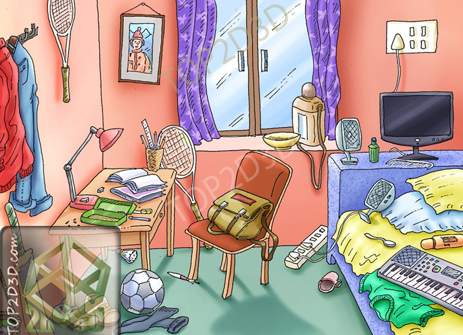 Living Room clipart messy Messy Clip Messy Room Clip