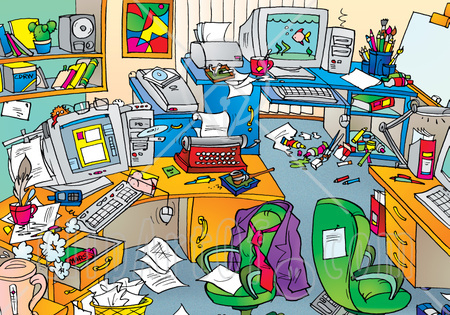 Zone A Room Messy Cliparts