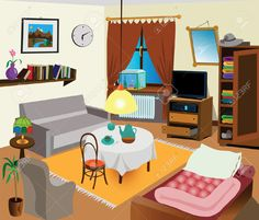 Living Room clipart messy Free living Art Free on
